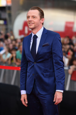 Simon Pegg at Mission Impossible: Rogue nation premiere.  photo copyright Zimbio.com