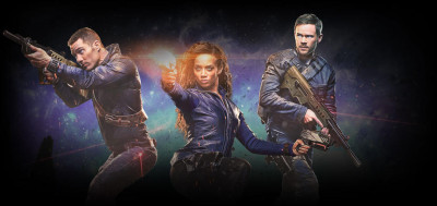Killjoys follows a fun-loving, hard living trio of interplanetary bounty hunters sworn to remain impartial as they chase deadly warrants throughout the Quad, a distant system on the brink of a bloody, multiplanetary class war.