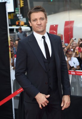 Jeremy Renner at Mission Impossible: Rogue Nation  premiere.   Photo copyright Zimbio.com
