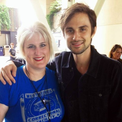 CFM's Suzanne with Andrew J West.  Photo copyright Suzanne Philips