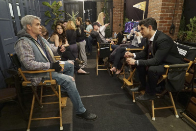 """STITCHERS - """"Full Stop"""" - A shooting leaves Detective Fisher in ICU, and Kirsten on the hunt for the cause in the summer finale of """"Stitchers,"""" airing Tuesday, August 4, 2015 at 9:00PM ET/PT on ABC Family. (ABC Family/Eric McCandless) HENRY ROLLINS, ALLISON SCAGLIOTTI, DAMON DAYOUB"""
