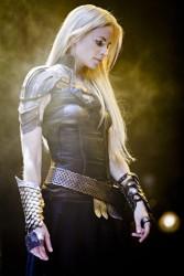 Archangel Uriel, played by Katrine De Candole